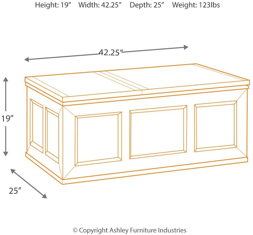 Signature Design By Ashley Living Room Gavelston Coffee Table With