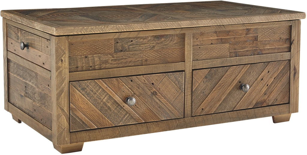 Signature Design By Ashley Living Room Grindleburg Coffee Table With Lift Top T754 20 Capital