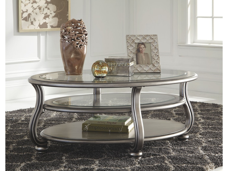 Signature Design By Ashley Living Room Oval Cocktail Table T - Ashley furniture oval coffee table