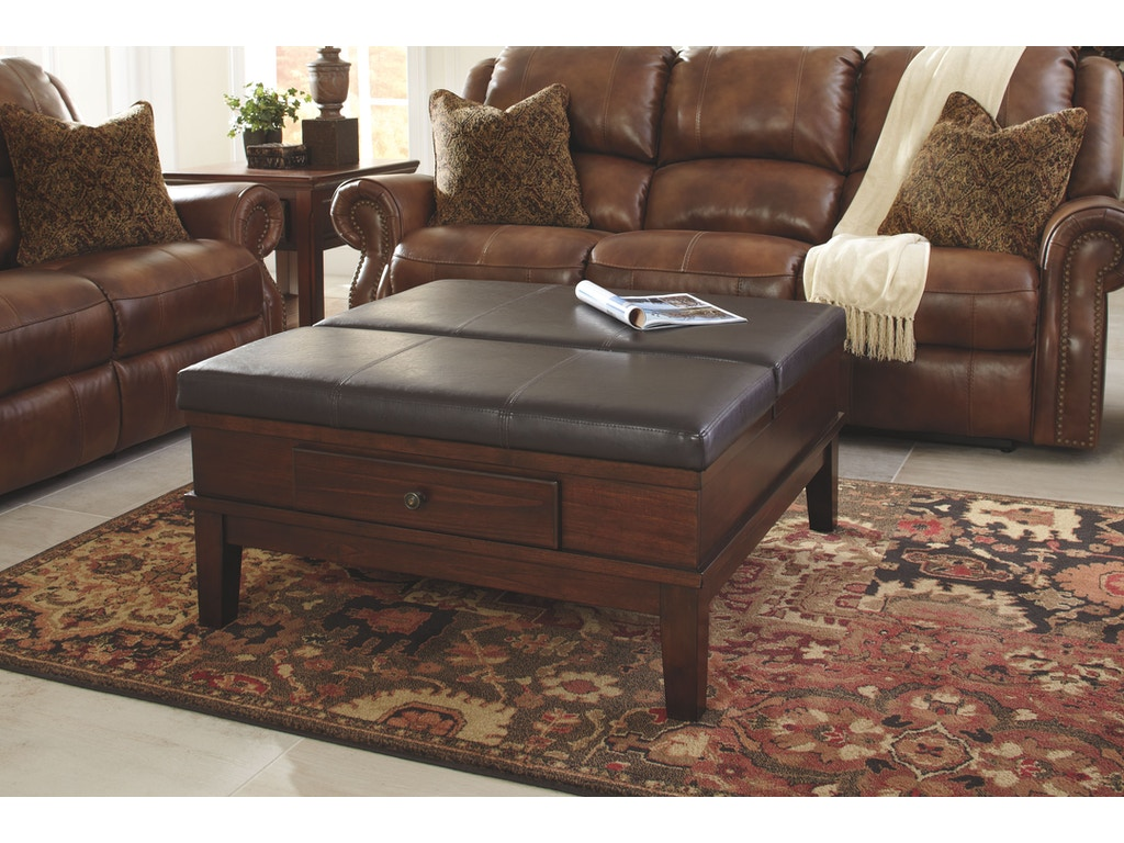 Signature Design By Ashley Living Room Ottoman Cocktail Table T845 21 Winner Furniture