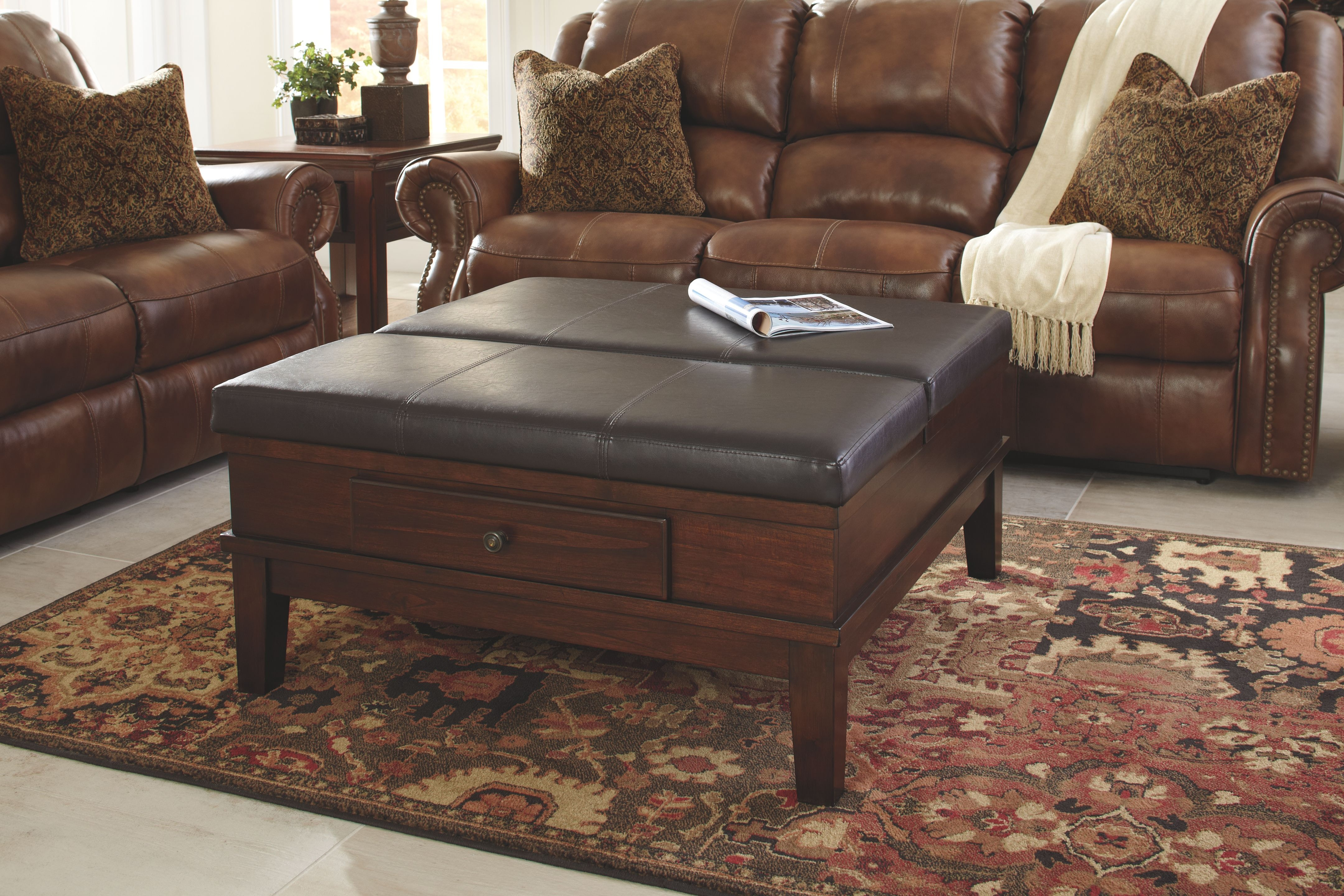 Wonderful Signature Design By Ashley Ottoman Cocktail Table T845 21