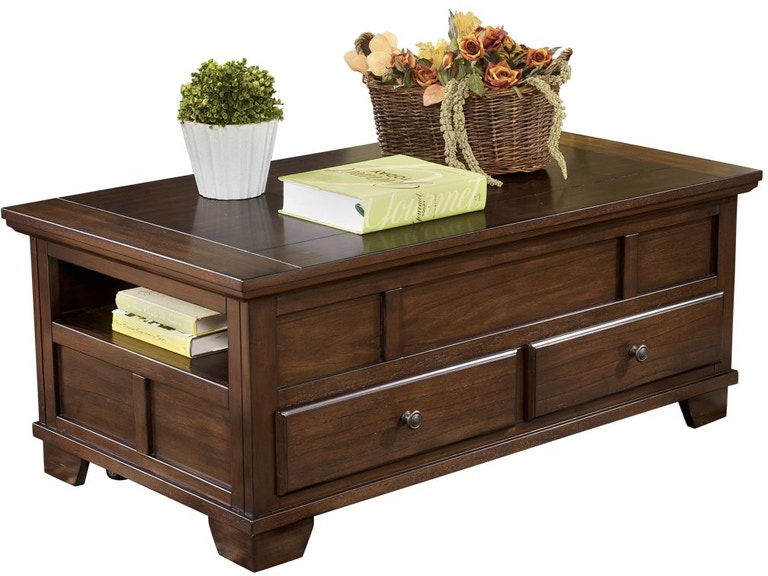 Signature Design By Ashley Living Room Gately Coffee Table With
