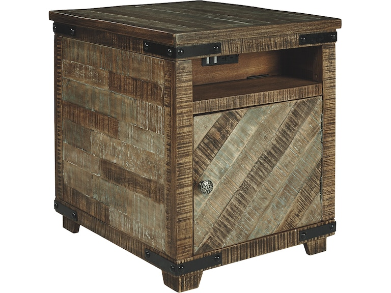 Shop Our Cordayne Rustic Brown Chairside End Table By Signature