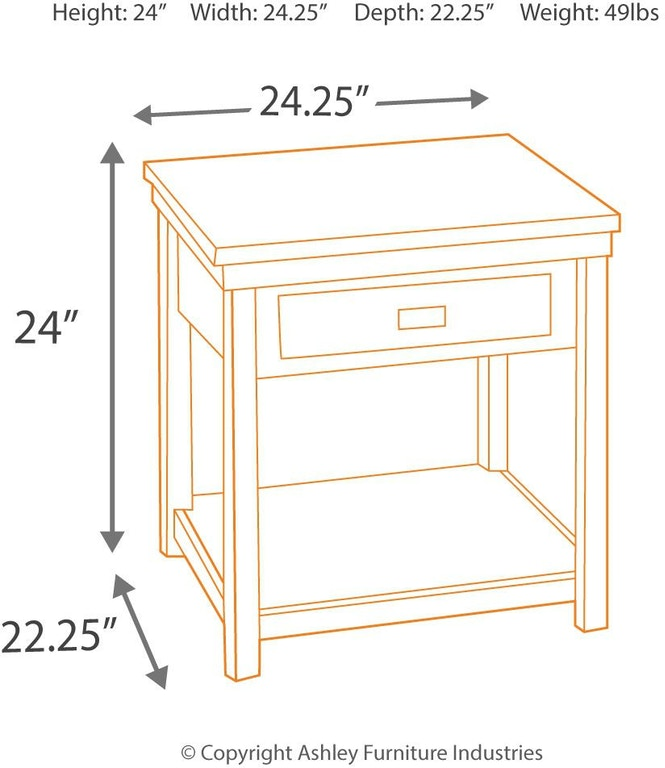 Marvelous Signature Design By Ashley Living Room Hatsuko End Table Pdpeps Interior Chair Design Pdpepsorg