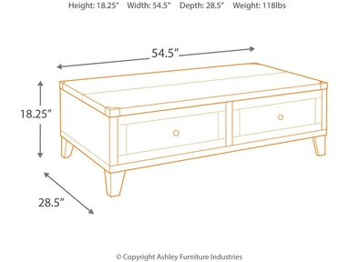 Signature Design By Ashley Living Room Todoe Coffee Table