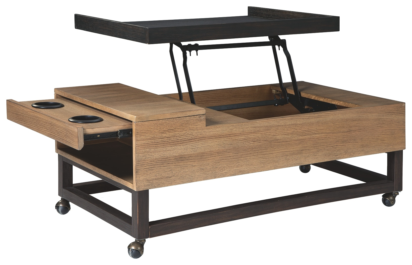 Signature Design By Ashley Living Room Fridley Lift-Top Coffee Table T920-9  - Art Sample Furniture