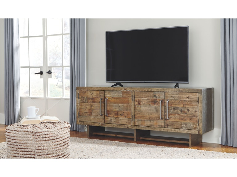 Signature Design By Ashley Home Entertainment Extra Large Tv Stand W665 68 At Smokey Mountain Furniture