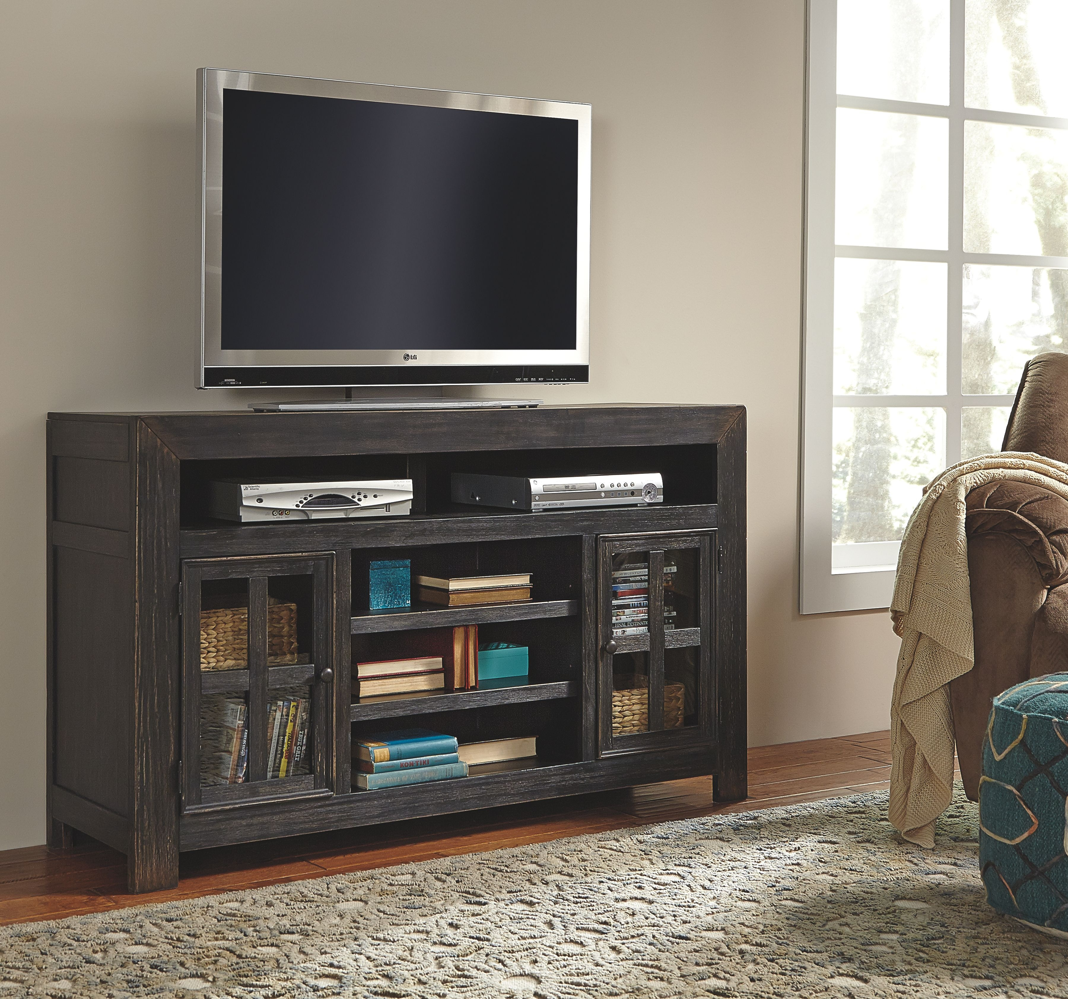 Signature Design By Ashley Lg Tv Stand W Fireplace Option On Sale At