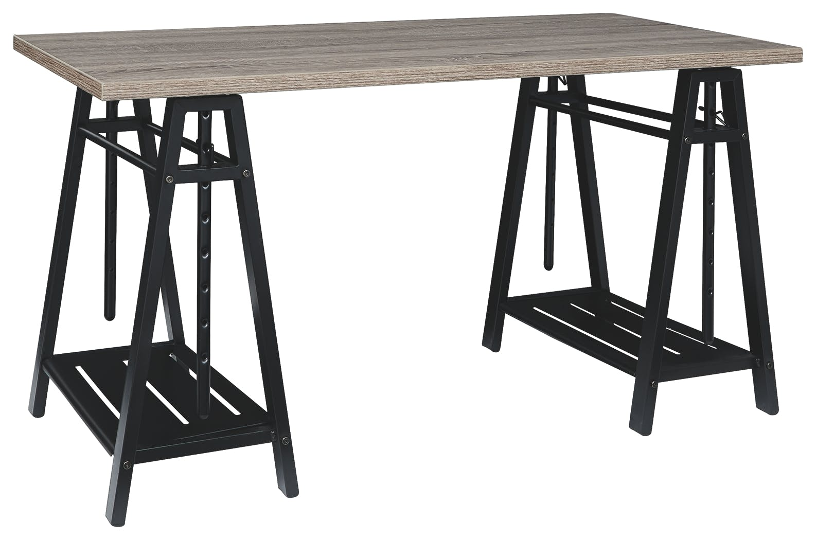 Picture of: Signature Design By Ashley Home Office Irene Adjustable Height Desk Z1430261 Turner Furniture