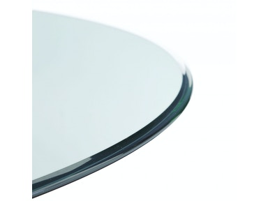 Bassett Mirror Company Clear Glass 60rd Dining Top 0906