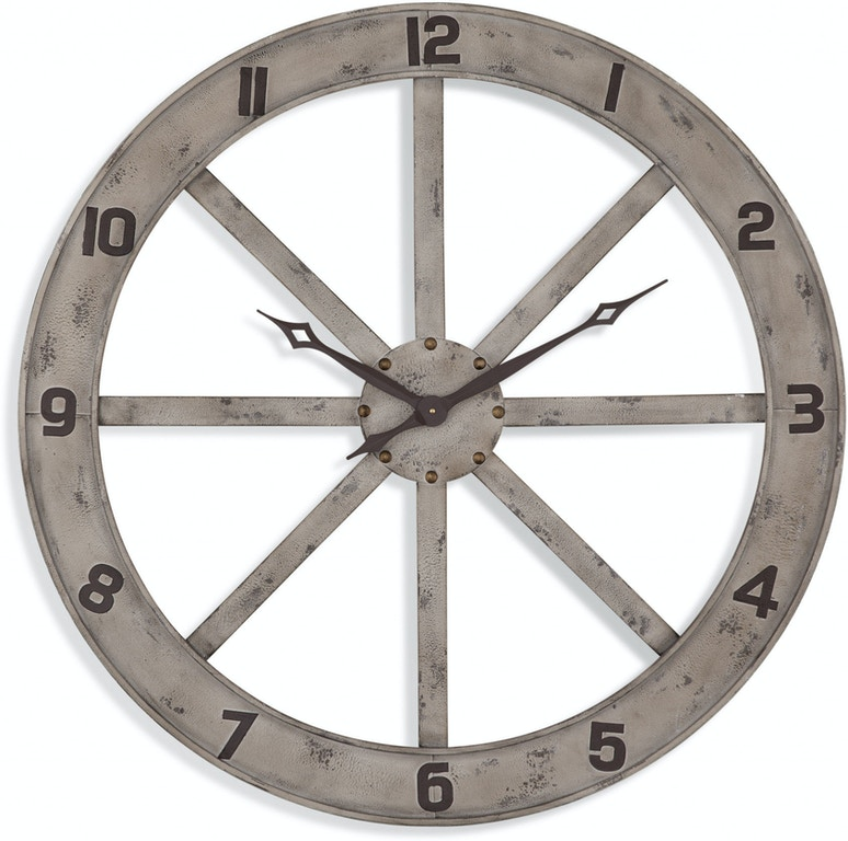 Bassett Mirror Company Accessories Farmhouse Wall Clock Mc4022 Bacons Furniture