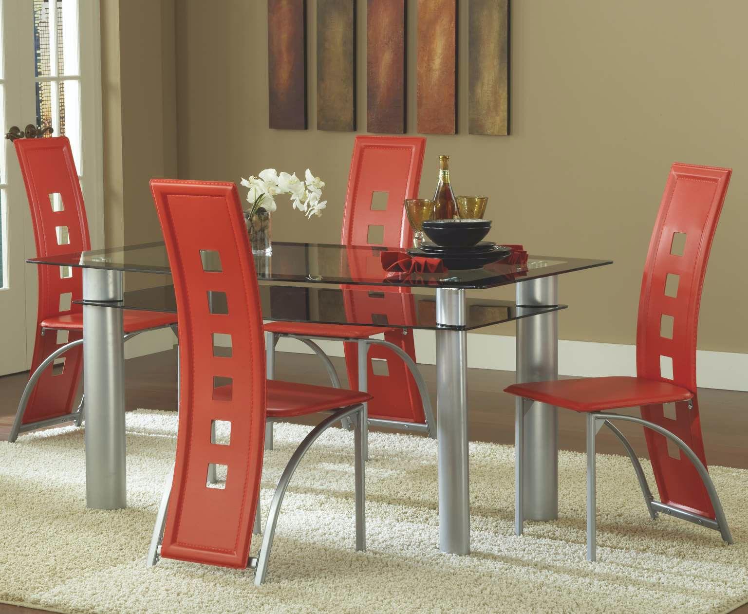 bernards dining room astro dinette table - black/satin silver 4100 Dinette Table
