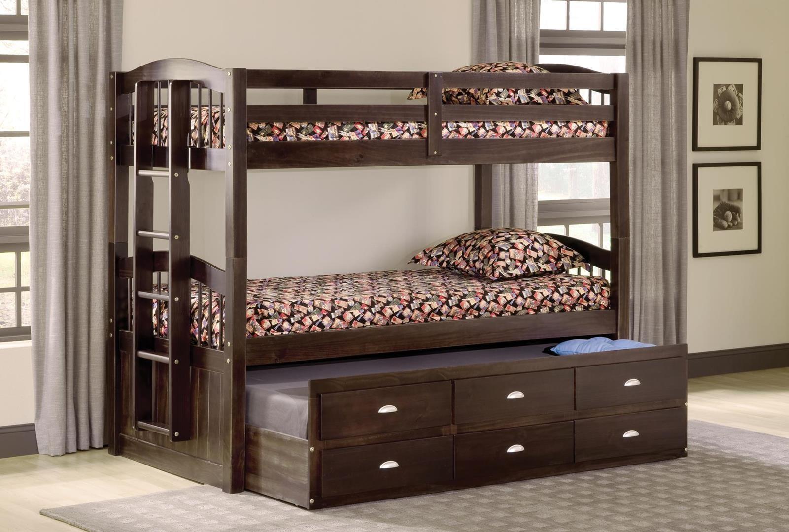 Bernards Bedroom Maddock Twin Twin Captains Bunk Bed 3340