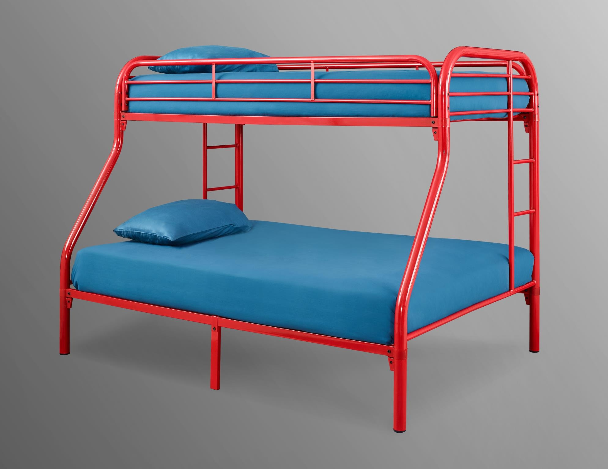 Bernards Bedroom Palmer Twin Over Full Metal Bunk Bed Red 3907