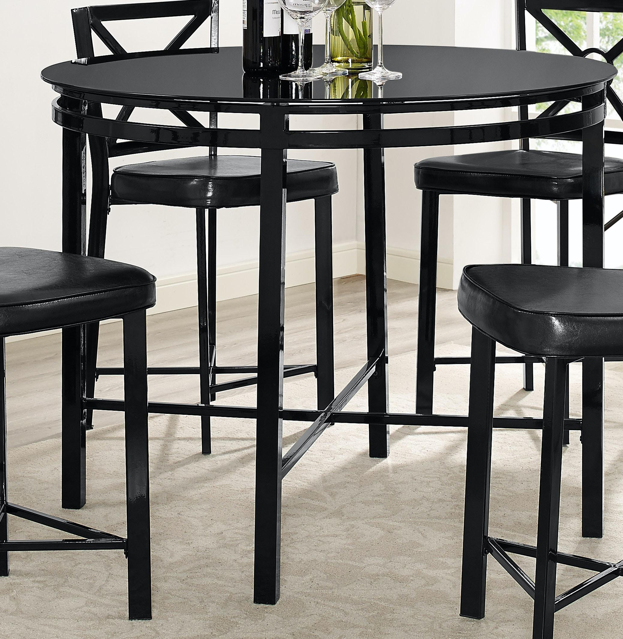 Bernards Diamond Black/Glass Pub Table 4112