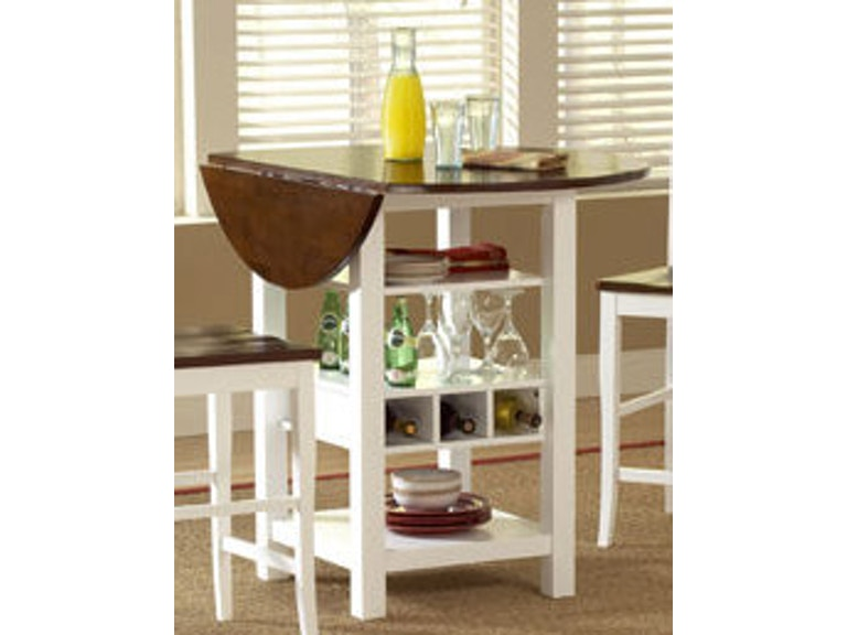 Bernards Bar And Room Ridgewood White Cherry Counter Dining Table 5916 At Erworths Of Petersburg