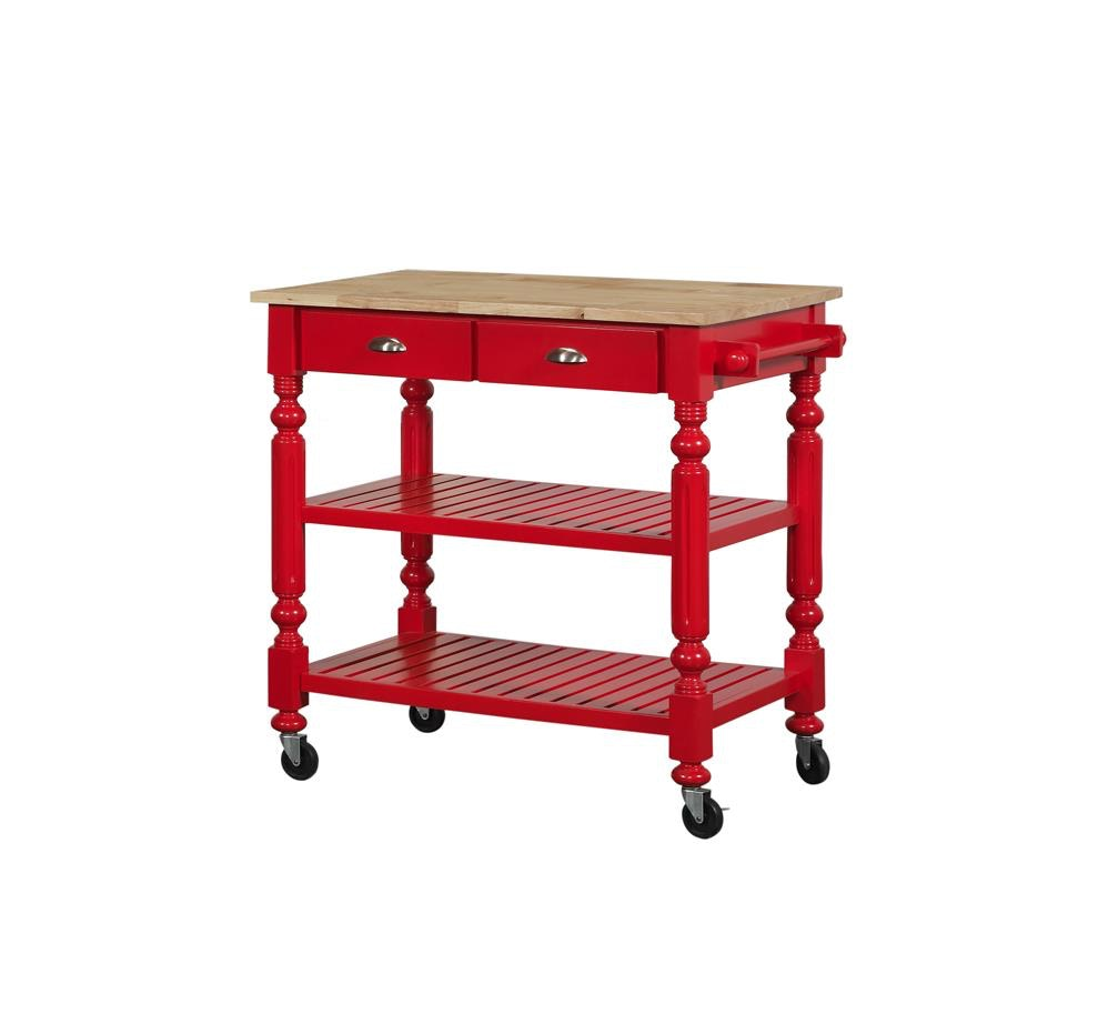 Red Kitchen Cart   Bernards Payson Red Kitchen Cart 7126 Butterworths Of Petersburg