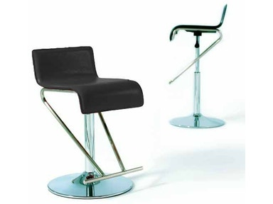 Chintaly Adjustable Bar Stool 6122-AS-BLK