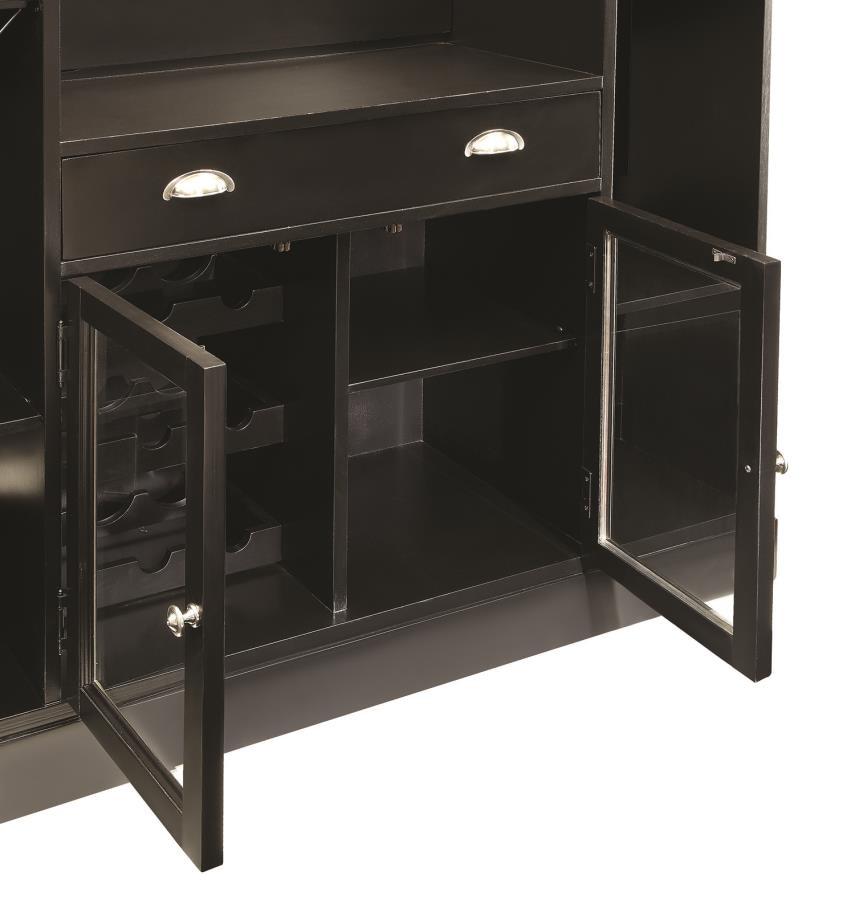 Coaster Inwood Contemporary Bar With Wine Rack And Stemware Storage 100175