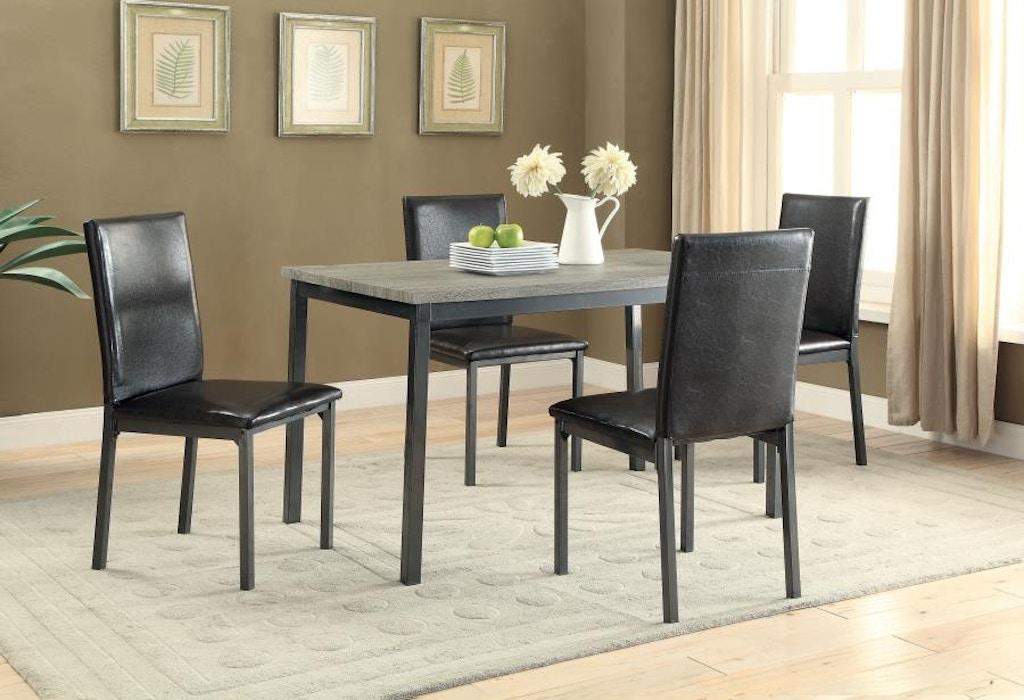 Superb Coaster 5 Piece Dining Room Set 100611 S5 Rider Furniture Download Free Architecture Designs Xoliawazosbritishbridgeorg