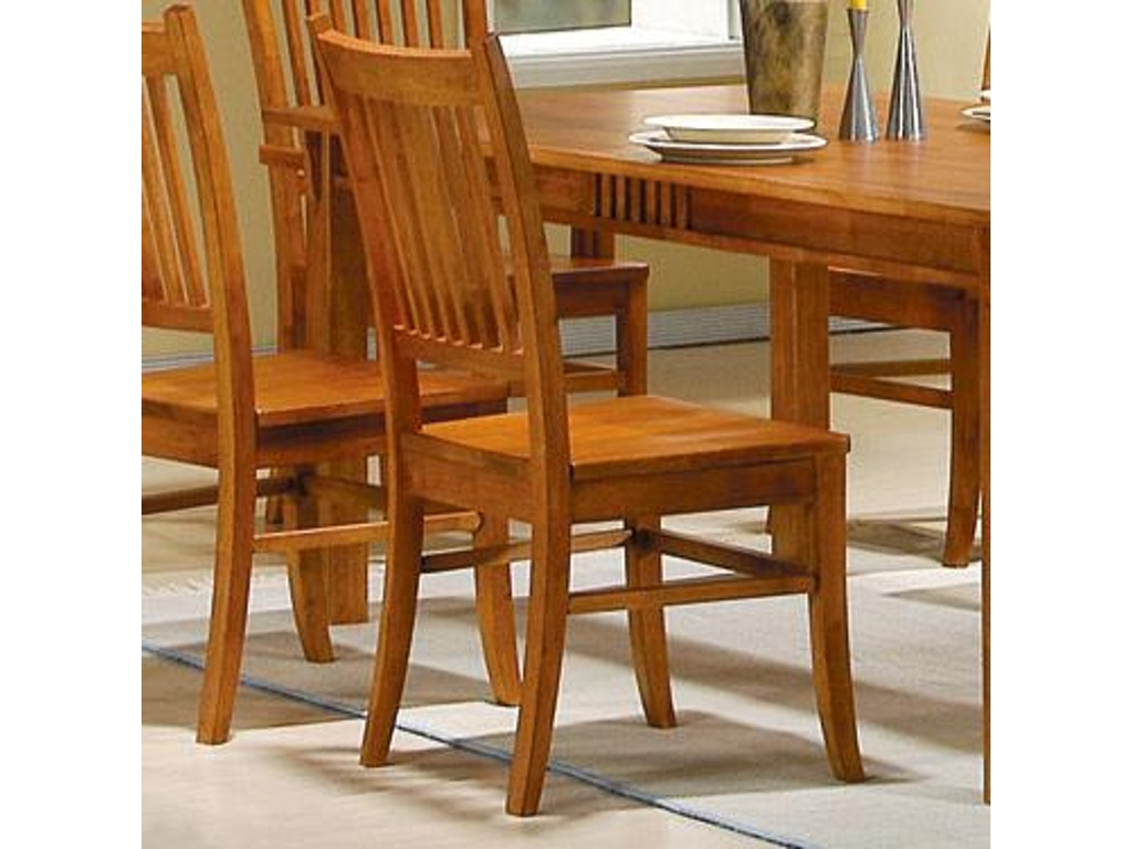 Coaster dining room side chair hickory furniture
