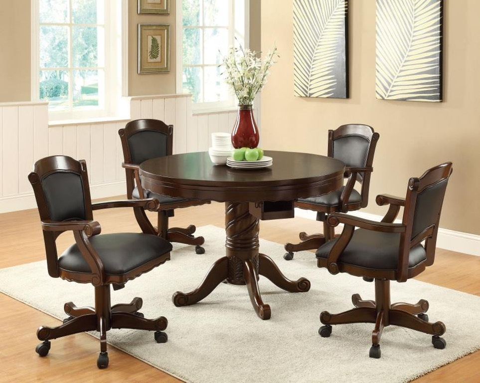Coaster Bar And Game Room 5 Piece Dining Room Set 100871 S5 The