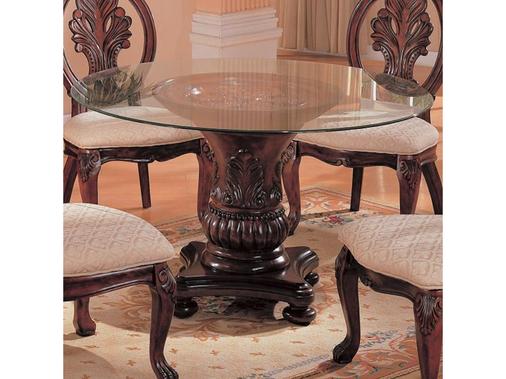 Coaster dining room dining table base 101030 furniture for Furniture kingdom