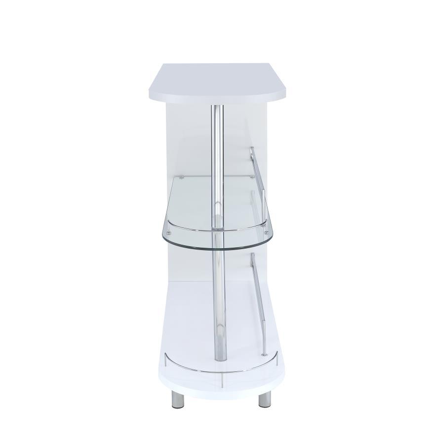 Coaster Bar Units And Bar Tables Contemporary White Bar Table 101064