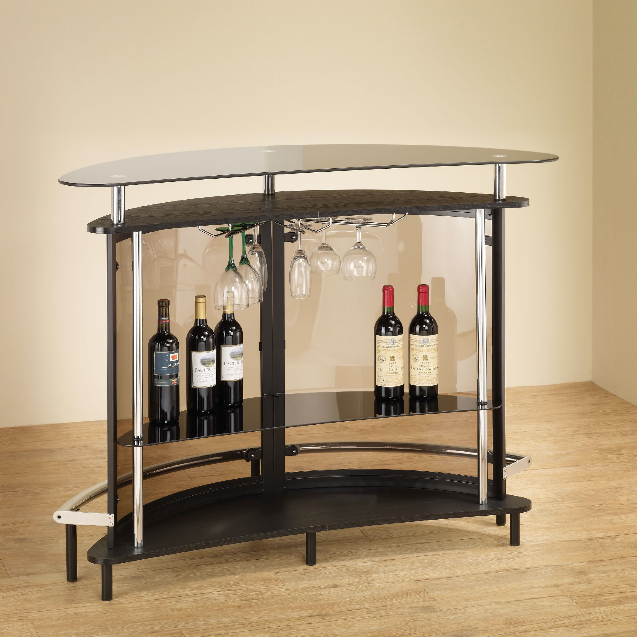 Amazing Coaster Bar Units And Bar Tables Contemporary Bar Unit With Smoked Acrylic  Front 101065