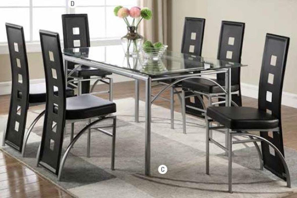 Super Coaster 7 Piece Dining Room Set 101681 S7B Capital Download Free Architecture Designs Xoliawazosbritishbridgeorg