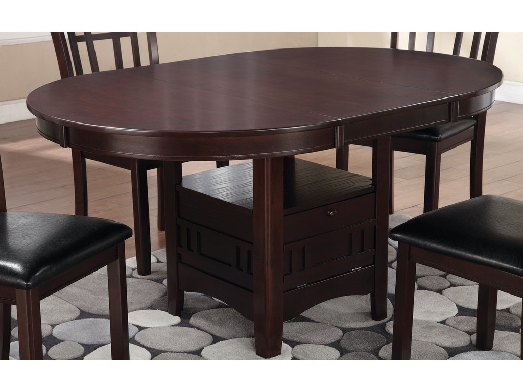 Coaster dining room dining table 102671 barron 39 s home for Dining table weight
