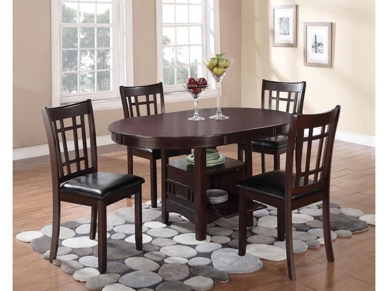 Coaster 5 Piece Dining Room Set 102671 S5 Furniture Kingdom