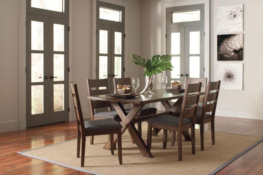 Tremendous Coaster 6 Piece Dining Room Set 106381 S6 Davis Furniture Download Free Architecture Designs Xoliawazosbritishbridgeorg