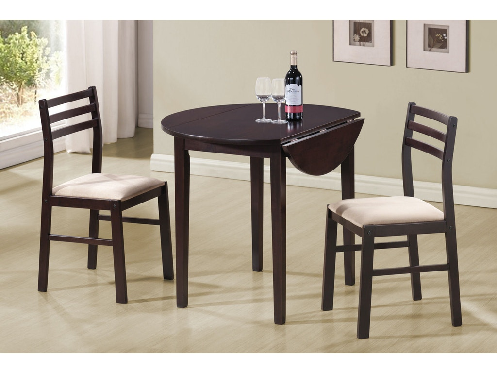 Coaster dining room 3 pc set 130005 gibson furniture for 3 pc dining room set
