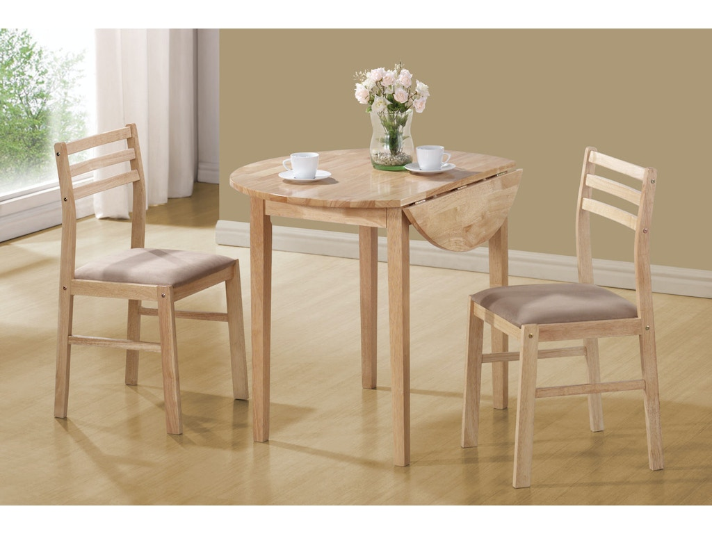 Coaster dining room 3 pc set 130006 barron 39 s home for 3 pc dining room set