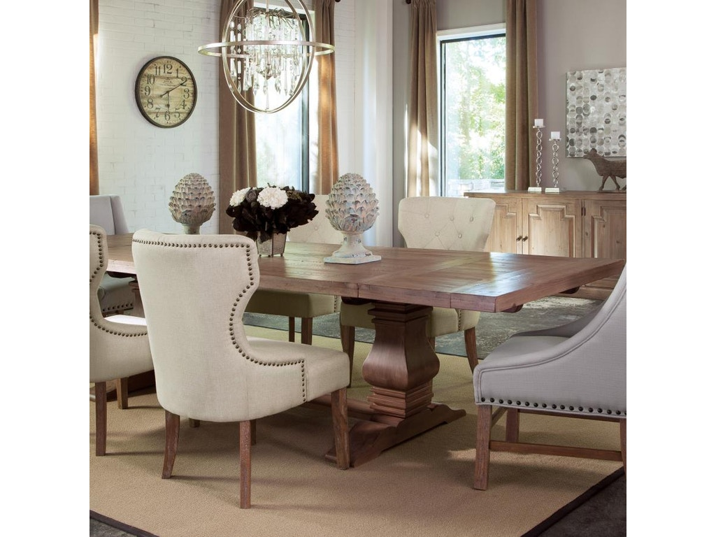 Coaster dining room table hickory