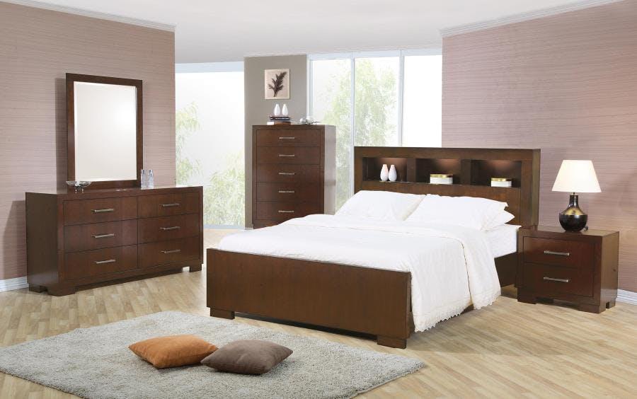 Coaster Jessica Dark Cappuccino Queen Five Piece Bedroom Set With Storage Bed 200719q S5 Blockers