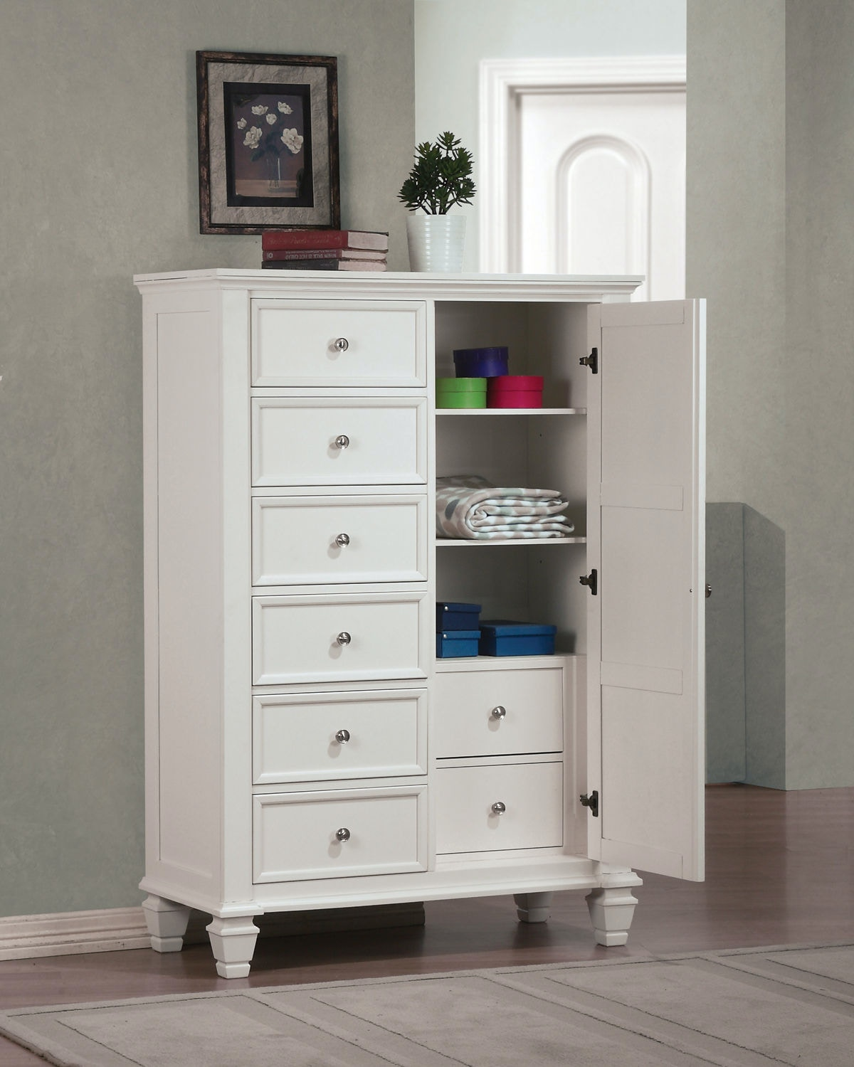 Crafted With Tropical Veneer And Hardwoods In A White Finish. Matching  Manu0027s Chest Available For Extra Storage Space. Offered In White,  Cappuccino, ...