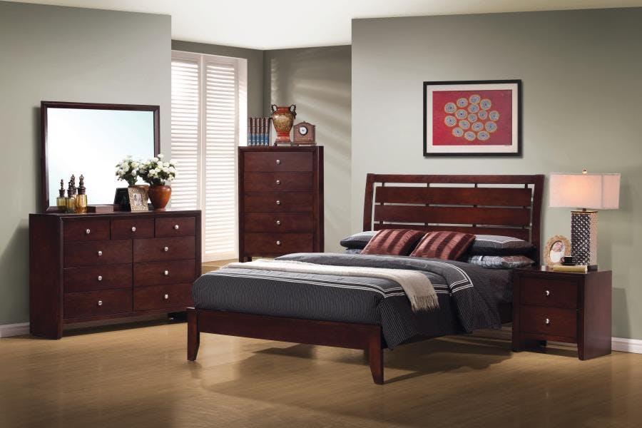 Coaster Serenity Rich Merlot Queen Five Piece Bedroom Set 201971q S5 Wenz Home Furniture Green