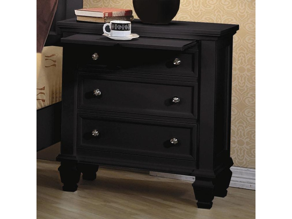 Coaster bedroom nightstand 201322 simply discount for Affordable nightstands