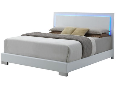 Coaster Felicity Queen Low Profile Bed with LED Backlight 203500Q
