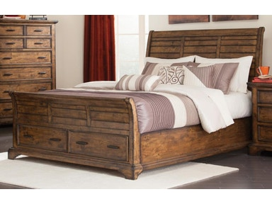 Coaster Elk Grove Queen Sleigh Bed with 2 Drawers 203891Q