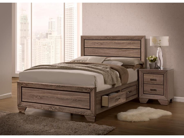 coaster 5 piece king bedroom set 204190kes5  simply