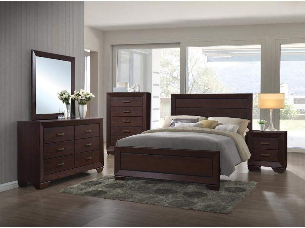 Coaster bedroom queen bed 204391q hickory furniture mart for Bedroom furniture hickory nc