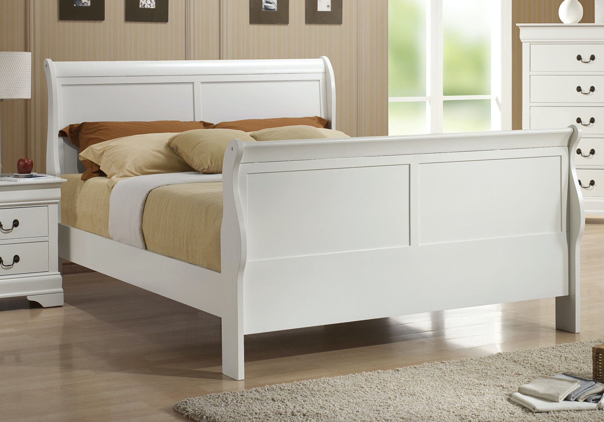 Coaster Bedroom Louis Philippe Traditional Youth White Queen Bed Box Two Fulton Stores Brooklyn