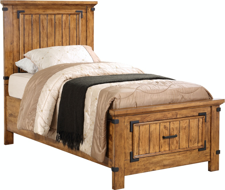 Coaster Bedroom Brenner Rustic Honey Twin Bed Box Two Storage Footboard 205260tb2 Turner