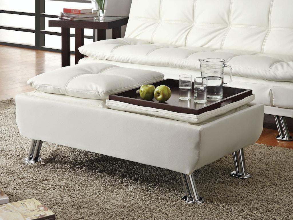 Coaster Living Room Ottoman 300293 - EMW Carpets & Furniture ...