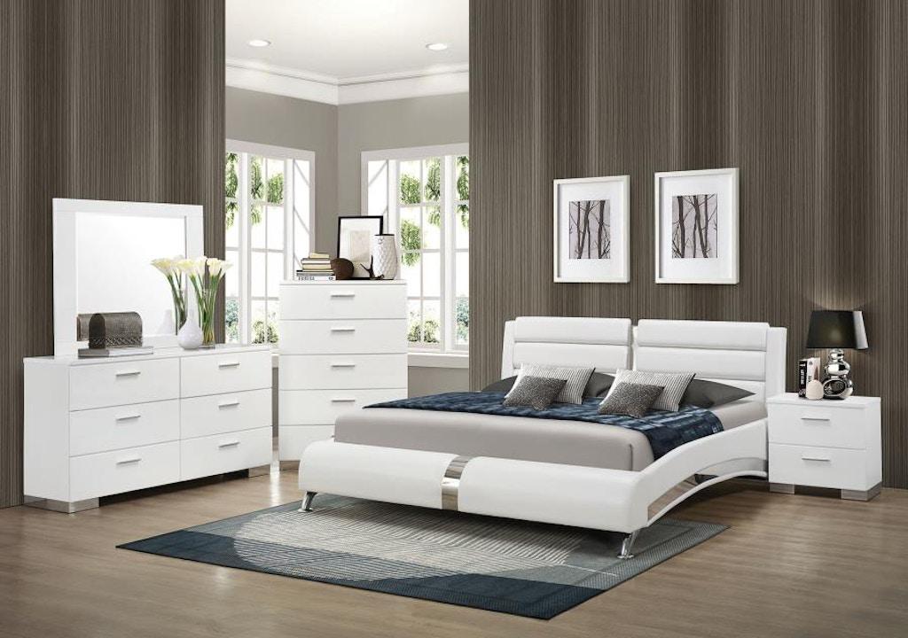 Coaster 5 Piece King Bedroom Set 300345KE-S5 - Evans ...