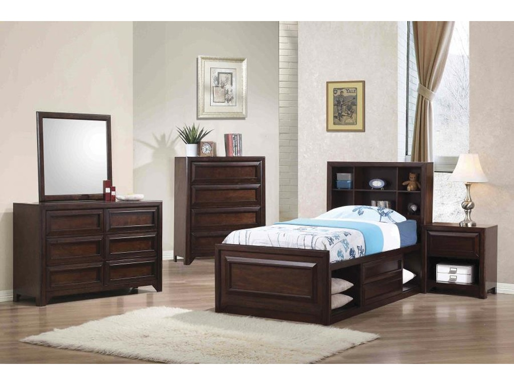 Coaster Youth 5 Piece Twin Bedroom Set 400820t S5 Wenz Home Furniture Green Bay Wi