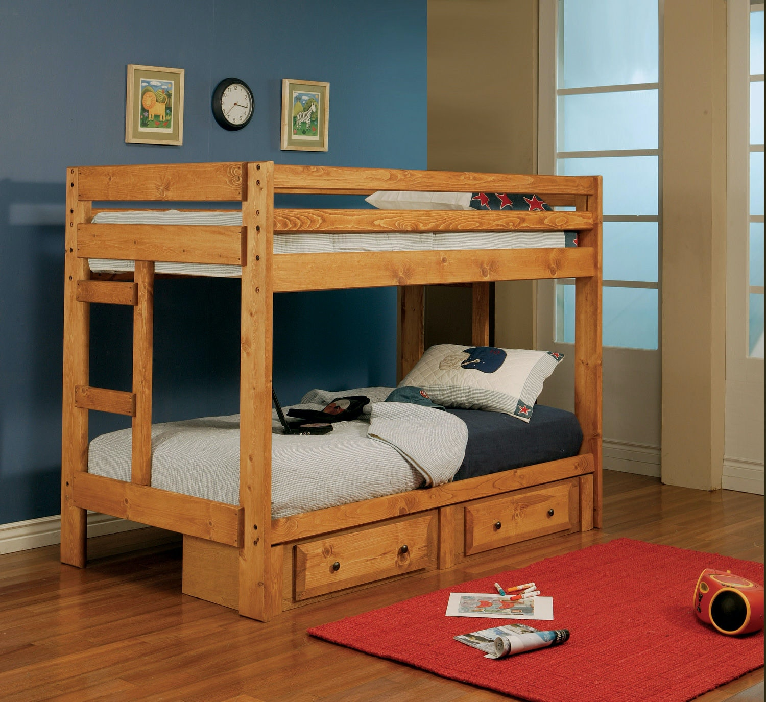 Coaster Youth Twin Over Twin Bunk Bed 460097 Trundle Not Included